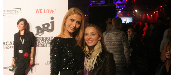 Fiona Erdmann und Marie bei der We Love Energy Fashion Night Berlin