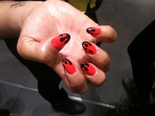 gruselige Halloween Nägel Design Kunst Fingernägel 1