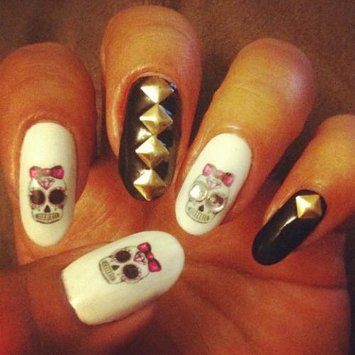gruselige Halloween Nägel Design Kunst Fingernägel 10
