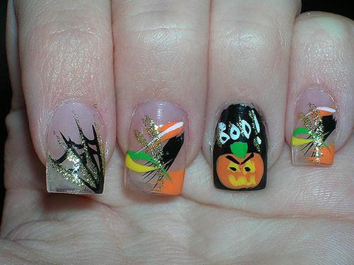 gruselige Halloween Nägel Design Kunst Fingernägel 12