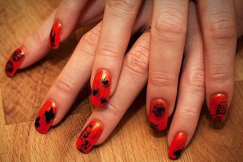gruselige Halloween Nägel Design Kunst Fingernägel 13