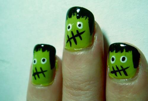 gruselige Halloween Nägel Design Kunst Fingernägel 16