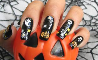 gruselige Halloween Nägel Design Kunst Fingernägel 17