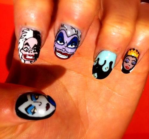 gruselige Halloween Nägel Design Kunst Fingernägel 19
