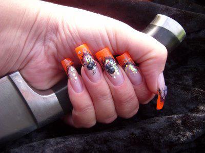gruselige Halloween Nägel Design Kunst Fingernägel 3