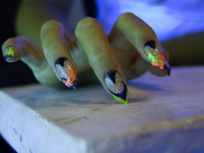 gruselige Halloween Nägel Design Kunst Fingernägel 5