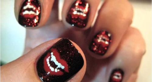 gruselige Halloween Nägel Design Kunst Fingernägel 6