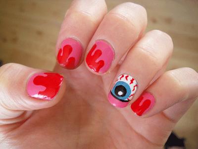 gruselige Halloween Nägel Design Kunst Fingernägel 7