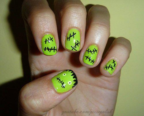 gruselige Halloween Nägel Design Kunst Fingernägel 8