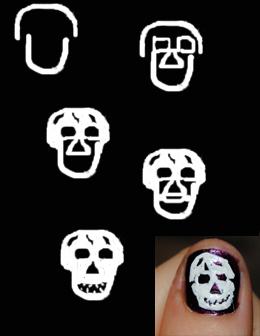 gruselige Halloween Nägel Design Kunst Fingernägel selber lackieren Anleitung