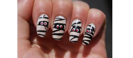 gruselige Halloween Nägel Design Kunst Fingernägel