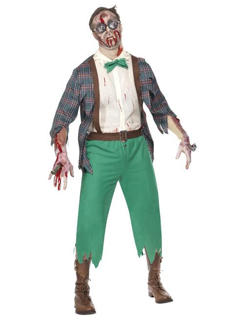 Zombie Horror Halloween Nerd Kostüm