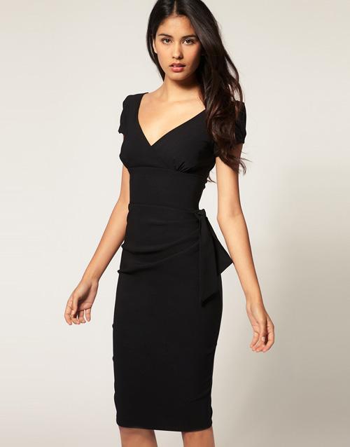 ASOS - Hybrid – Kleid mit seitlicher Schleife
