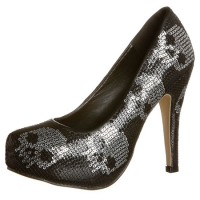 Iron Fist DIGISKULL Pumps silver sequin