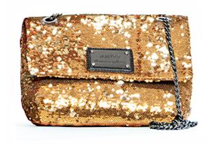 Pailletten Tasche von Mango in gold