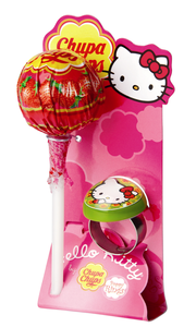 Hello Kitty Rings und Chupa Chups