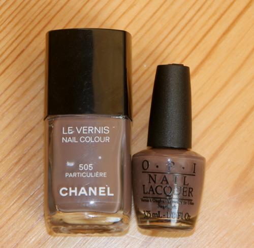 schlammfarbiger Nagellack braun Chanel und OPI 1