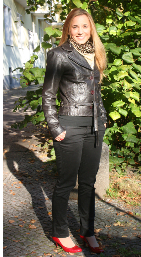 Tagesoutfit rote Lackpumps
