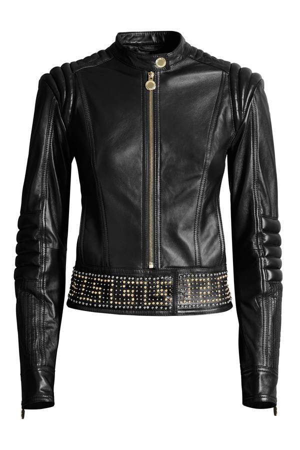 Versace for H&M Lederjacke mit Nieten