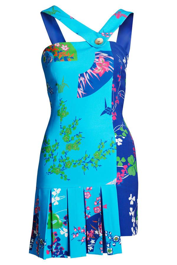 Versace for H&M Top mit asymmetrischen Trägern und Faltenröckchen