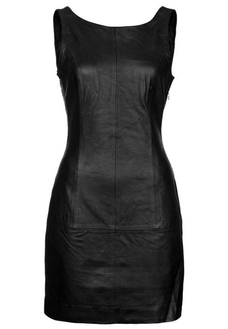 Vila Clothes schwarzes Lederkleid