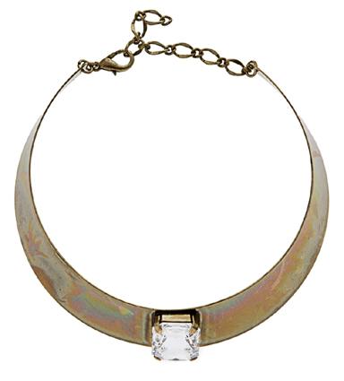 ASOS goldfarbene Halskette mit rechteckigem Swarovski-Stein von Love Rocks