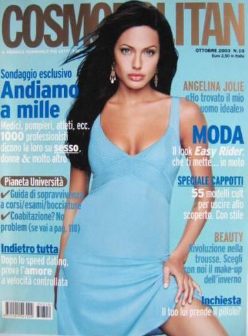 Cover Angelina Jolie Cosmopolitan Magazine Italy Oktober 2003