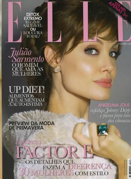 Cover Angelina Jolie Elle Magazine Portugal Februar 2011