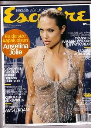 Cover Angelina Jolie Esquire Magazine Turkey Dezember 2004