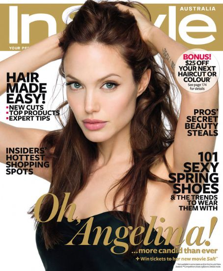 Cover Angelina Jolie InStyle Magazine Australia September 2010