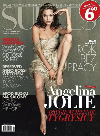 Cover Angelina Jolie SUKCES Magazine Poland June 2011