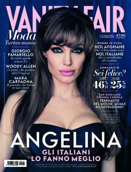 Cover Angelina Jolie Vanity Fair Magazine Italy Dezember 2010