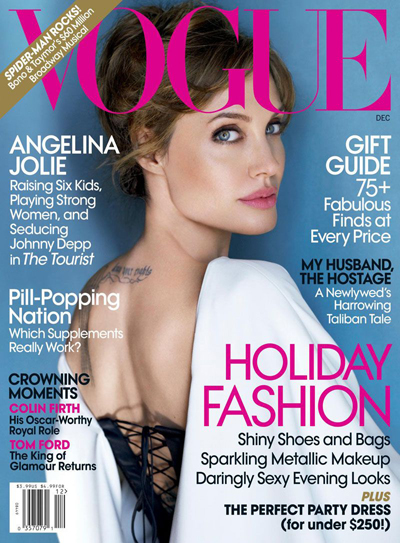 Cover Angelina Jolie Vogue Magazine United States December 2010