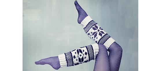 Im Winter ist Strick chic - Beinstulpen selber stricken