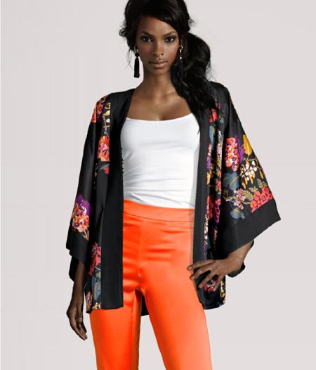 Kimono mit Blumen von H&M