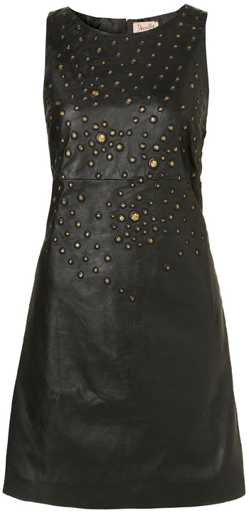 LEATHER STUD SEQUIN BODYCON DRESS BY DRESS UP TOPSHOP