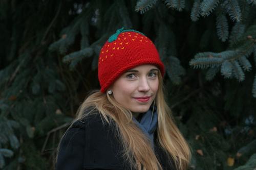Meine Erdbeer-Wintermütze