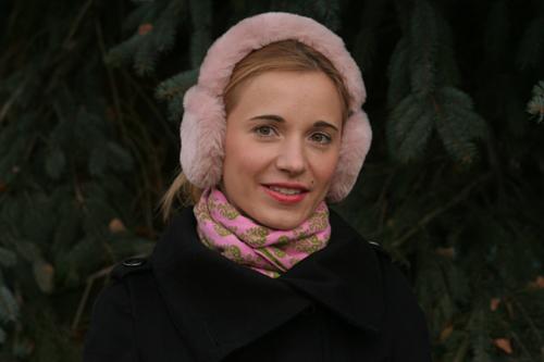 Meine rosa Plüsch-Ohrenschützer