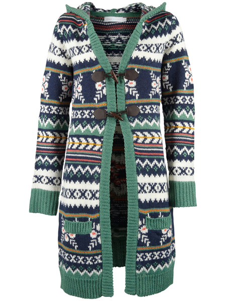 ONLY MULTI JACQUARD LONG KNIT CARDIGAN