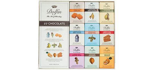Bild: mondogusto.de, Geschenkbox aus 27 Täfelchen verschiedener Schokoladen, 270 g, 16,50 Euro Kopie