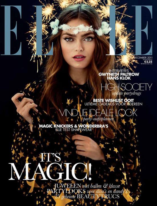 ELLE Niederlande Dezember Cover Sophie Vlaming