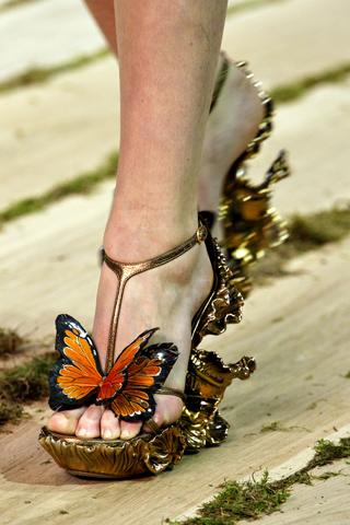 Alexander McQueen Schmetterlingsschuhe braun 1