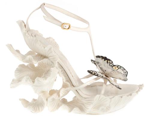 Alexander McQueen Schmetterlingsschuhe weiß