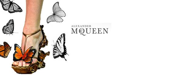 Alexander McQueen Schmetterlingsschuhe