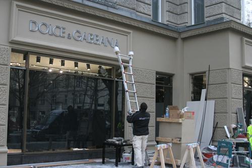 Bauarbeiten am Dolce & Gabbana Store in Berlin
