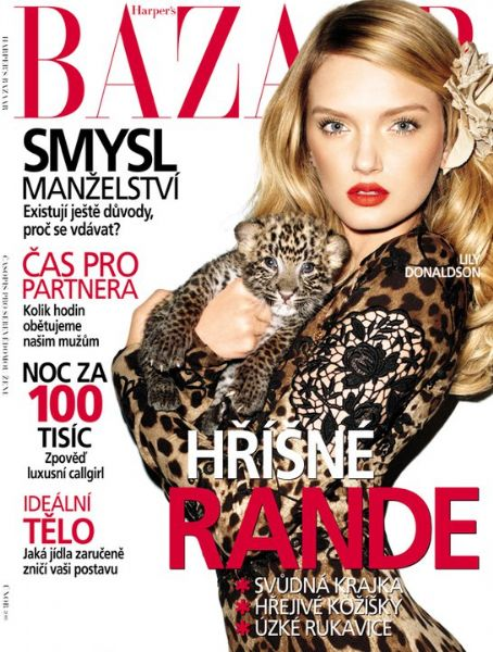 Harpers Bazaar Tschechien Februar 2011 Cover Lily Donaldson by Terry Richardson