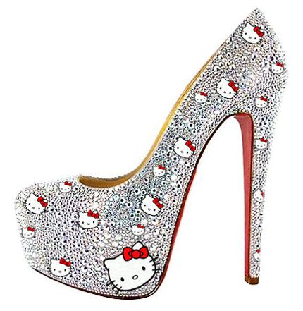 Kristall Hello Kitty High Heels