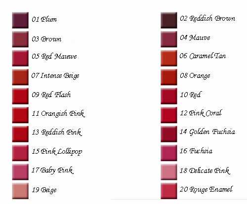 Rouge Pur Couture Vernis à Lèvres Farben