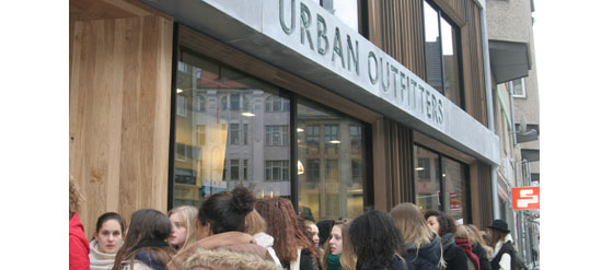 Urban Outfitters Store Eröffnung in Berlin
