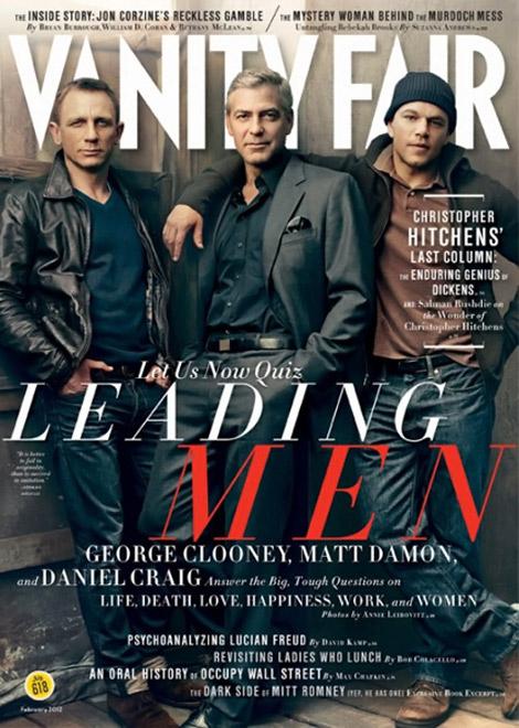 Vanity Fair Februar 2012 Daniel Craig, George Clooney, Matt Damon 1